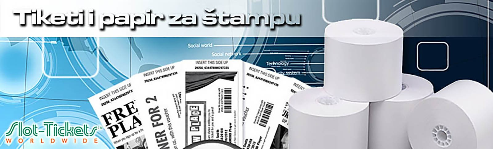 Tiketi i papir za štampu